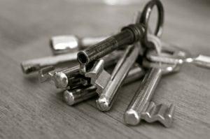 trousseau de clés propriétaire