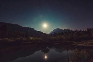 ciel étoile lac
