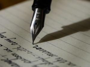 lettre écrire